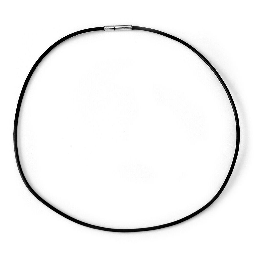 choker necklace 1 5mm black leather cord