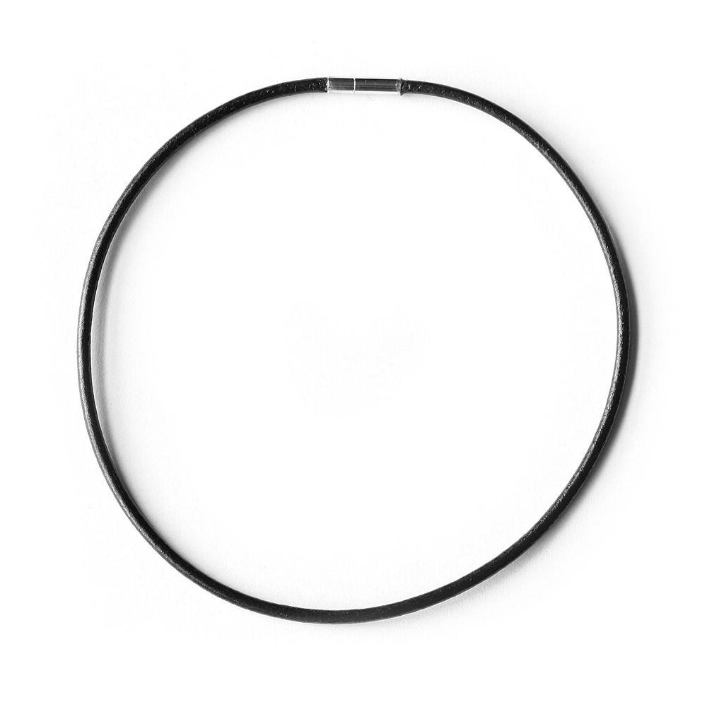 choker necklace 2 5mm black leather cord