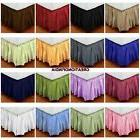 Extra Drop King Size Dust Ruffle Bed Skirt Striped 800 TC Eg