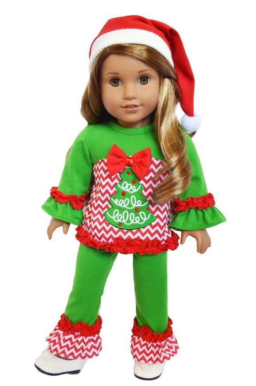 christmas tree outfit for american girl dolls