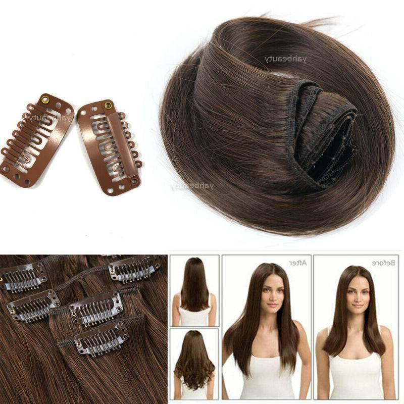 CLEARANCE Clip in Hair Extensions Head 100% Long