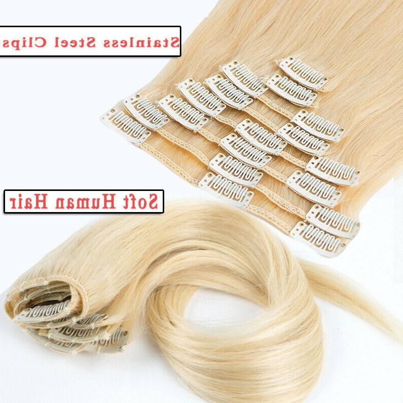 CLEARANCE Clip Hair Extensions Full Head 100% Long Soft