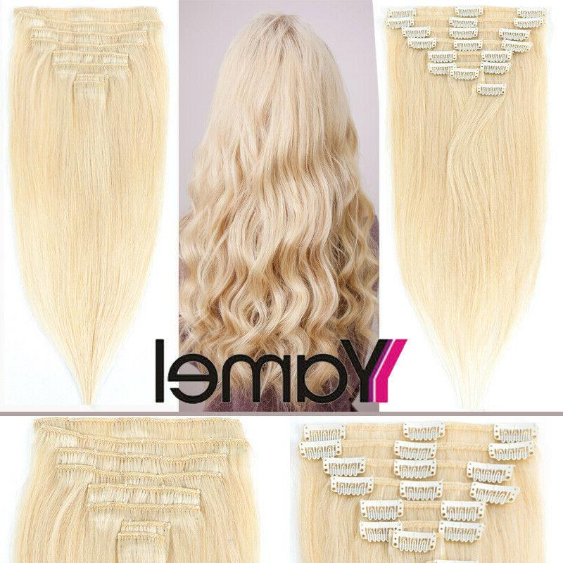 CLEARANCE Clip in Hair Extensions 100% Real Remy Long