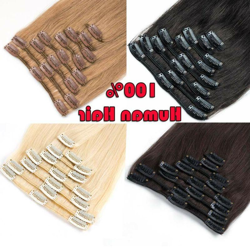 clearance clip in human hair extensions full