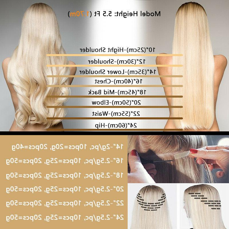 CLEARANCE Tape in 100% Remy Full Head Thick Soft