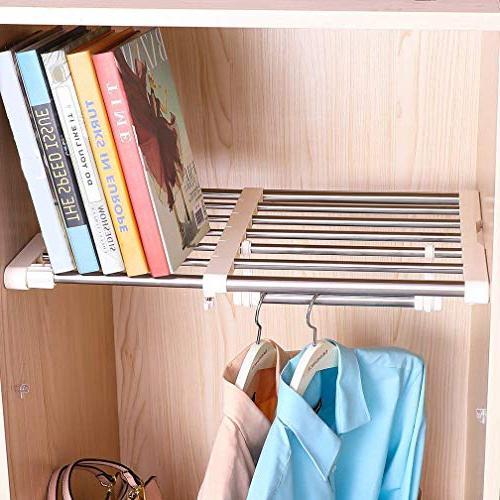 Hershii Expandable Duty Hanging Adjustable DIY Shoe 7-Bar for Bedroom