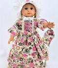 Colonial Floral Dress Felicity For 18 Inch American Girl Dol