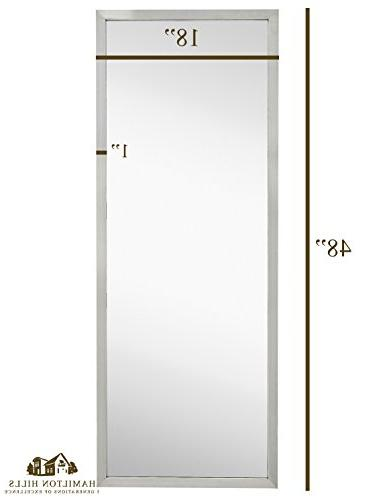 Commercial Restroom Full Wall | Industrial Strength Brushed Metal Glass | Vertical