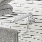 Signature Hardware Cooper Towel Bar and Shelf Chrome