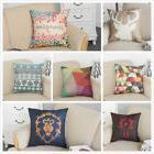 Cotton Linen Square Pillow Case Home Decorative Sofa Waist T
