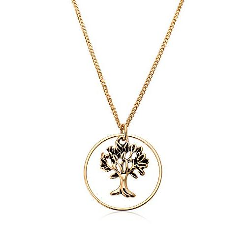 cottontree jewelry 18k gold plated tree of