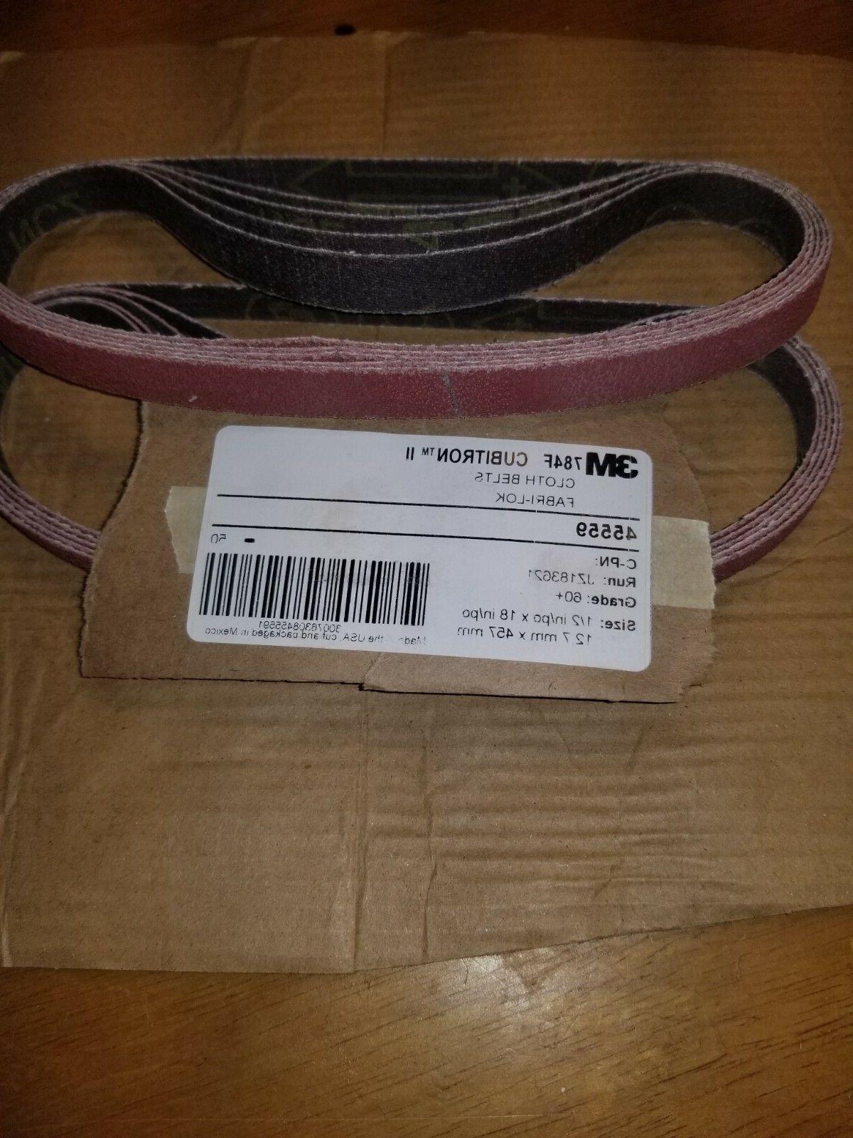 3M cubitron II cloth belts grit 60+ 1/2 inch by 18 inch meta