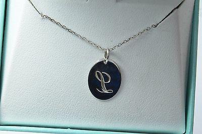 Cursive L 18 Inch Chain in .925 Silver Necklace