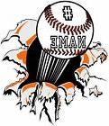 custom baseball / softball Vinyl wall  Decal Sticker add you