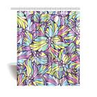 InterestPrint Custom Floral Pattern Waterproof Fabric Shower