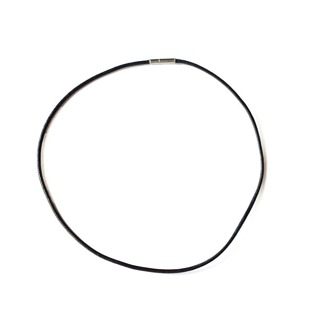 dark brown choker necklace 1 5mm leather