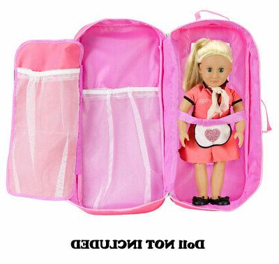 18-inch Doll Case Carrier Suitcase for American