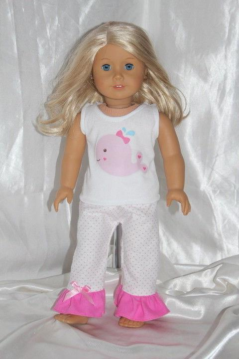 Doll Clothes fits 18inch American Girl Dress Outfit Hearts P