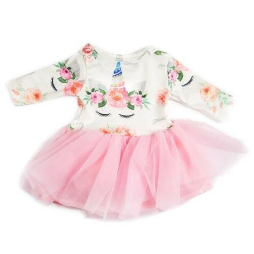 doll clothes unicorn tulle dress for 18inch