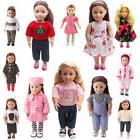 "Dolls Dress Clothes Outfits Pajamas Shoes for 18"" American G"