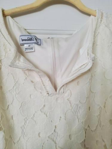 J Howard Dress, Ivory With Size Bust 37 Inches Long