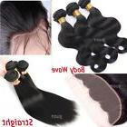 Ear to Ear Lace Frtontal Closure With 3Bundles 300G Virgin H