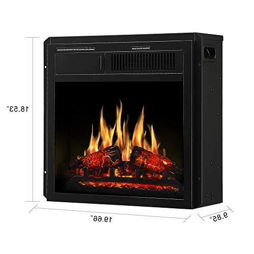 "JAMFLY 18"" Freestanding 7 Log Flame Settings and"