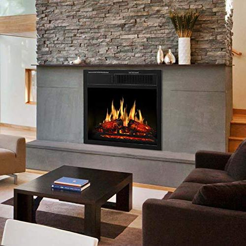 "JAMFLY Electric Fireplace 18"" with 7 Log Hearth Settings"