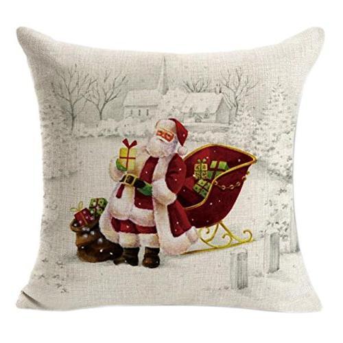 embroidery throw pillow case christmas