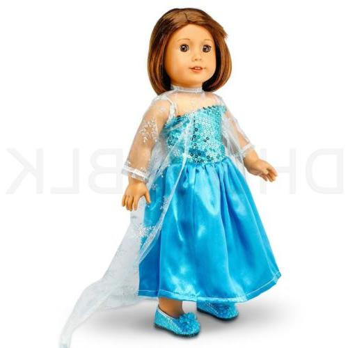 Fits Girl Princess Doll Clothes Outfit