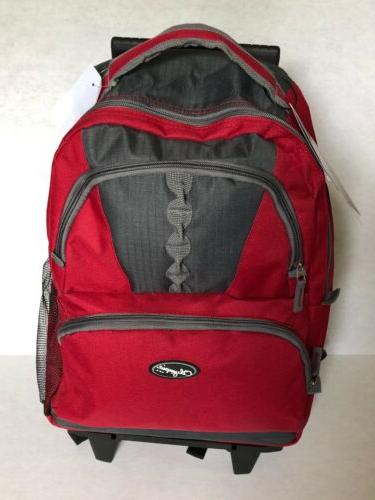 Olympia Rolling Backpack Red