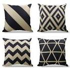 Geometrict Pattern Throw Pillows Covers 18 x 18 Inch Cotton