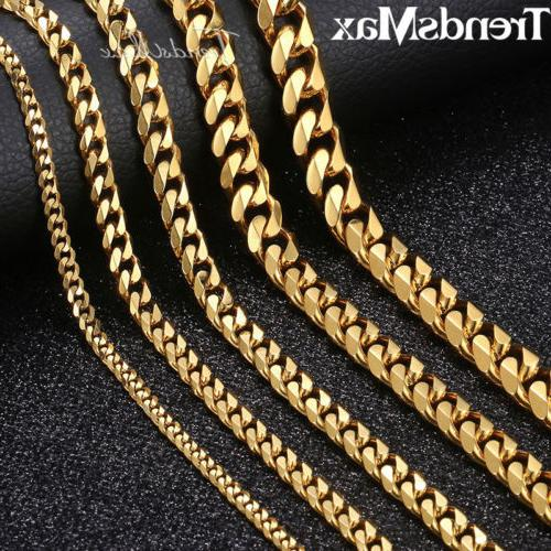 18-36 inch Steel Curb Necklaces For Men