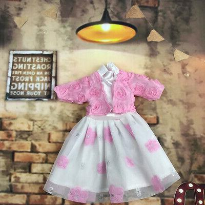 Handmade Clothes Lace Stitching Casual Dress Dolls