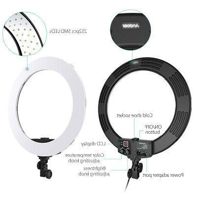 Andoer 18 252pcs Video Studio Ring Light Lamp For DSLR Camera