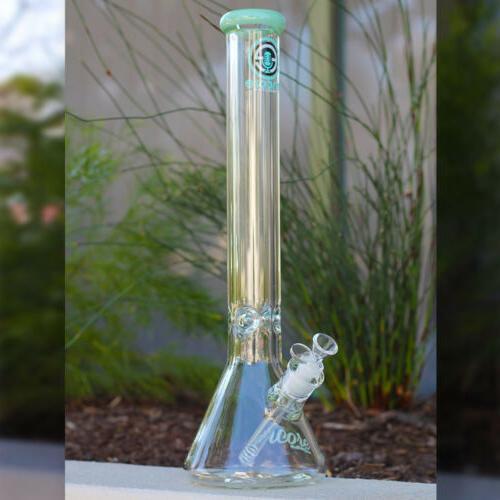 Hookah Pipe 18 inch 9MM Thick Wall Heavy Glass Tobacco Beaker