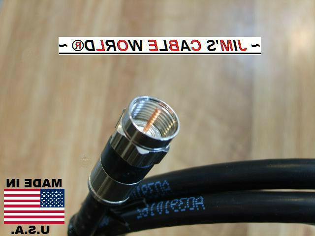 JIMS CABLE Inch 4' 5' Foot RG~6 75Ω Coax Cable