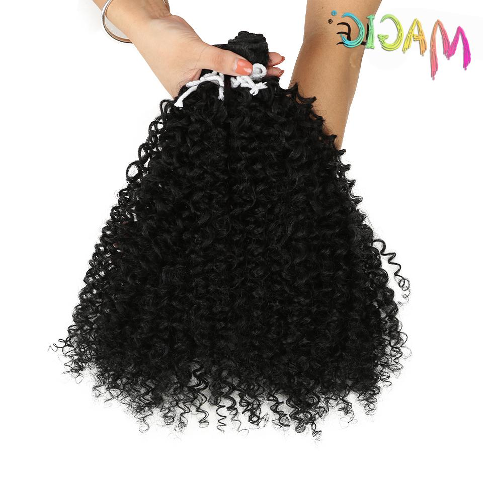 """magic Extension Afro Curly 24""""<font><b>Inch</b></font> Weft Hair Color Hair Weave For"""