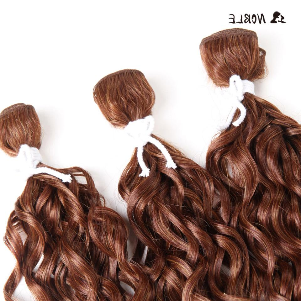 "Noble Hair High Temperature Curl For Black 14""-<font><b>18</b></font>"" Weft Bundles"