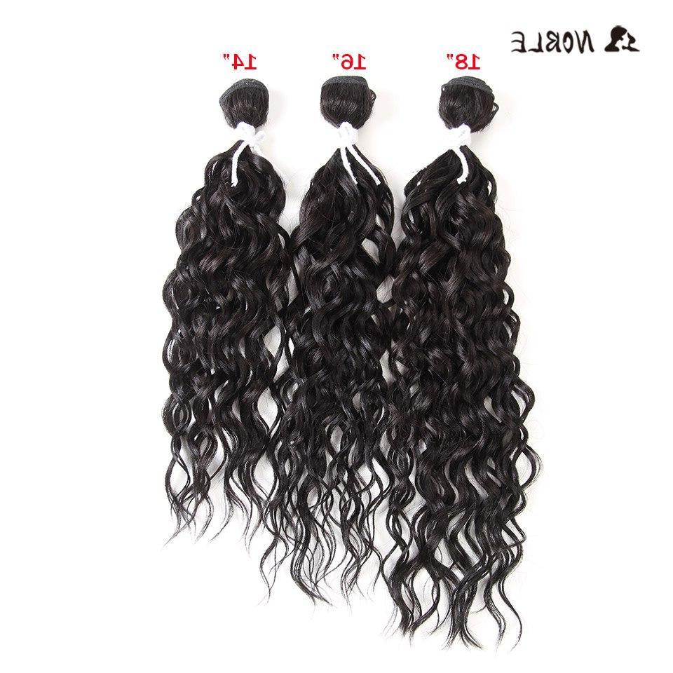 "Noble Long Curly Hair High Fiber Curl Black 14""-<font><b>18</b></font>"" Double Weft Bundles"