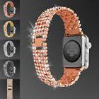 Luxury Bling Crystal Diamond Aluminum Wrist Band For Apple W