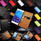 Luxury Genuine Real Leather Flip Case Wallet Stand Cover For
