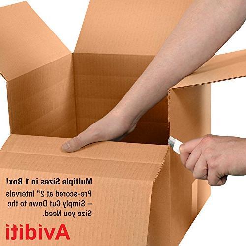 "Aviditi MD181818 Corrugated Box, Length x 18"" Width Height,"