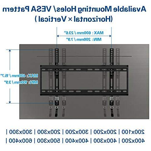 Mounting Tilting Wall Mount Bracket Most 42-70 Inch LED, LCD Plasma Screen to VESA 100 lbs.
