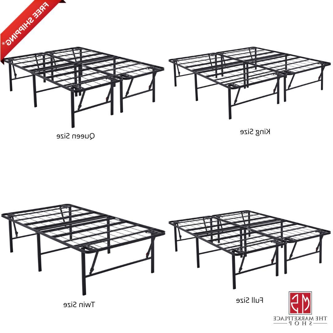 metal bed frame foldable steel rail platform