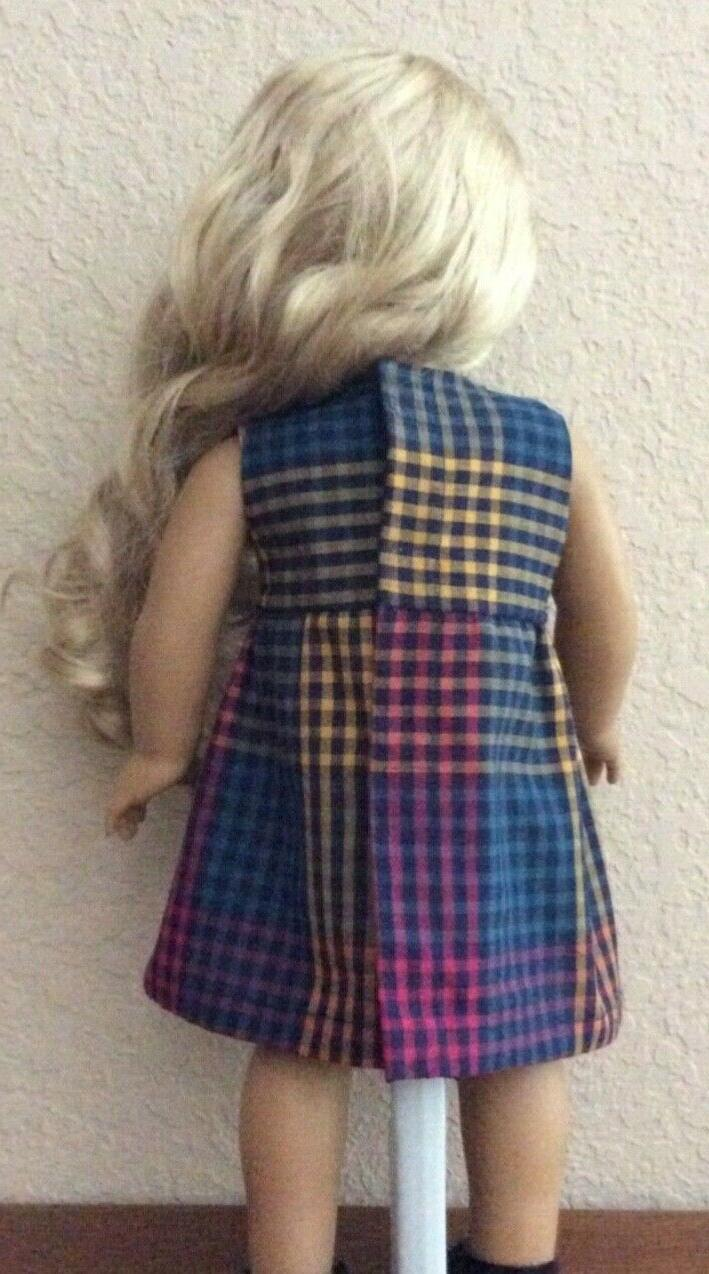 Multi Color Plaid for 18 Inch Girl Doll