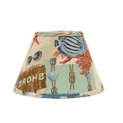 Somette Nautical Patchwork 18 inch Empire Lamp Shade with Wi