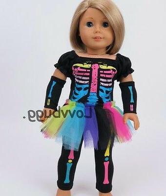 neon skeleton costume set for 18 inch