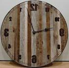 NEW 18 INCH DISTRESSED BARN WOOD RECLAIMED WOODEN STEEL RUST