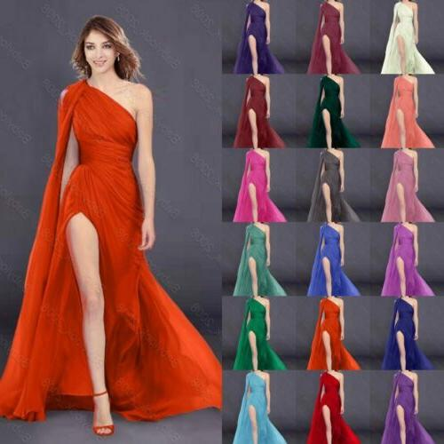 New Bridesmaids Dresses Long Prom One Shoulder Evening Gown